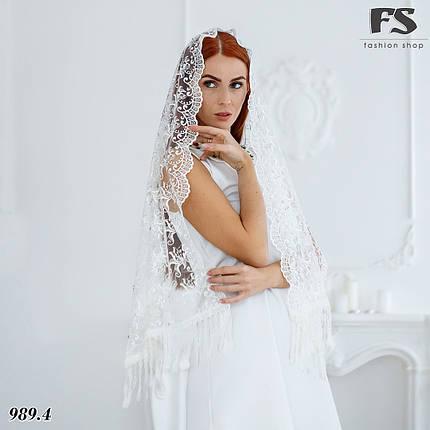 Свадебный шарф Камила (стразы), фото 2
