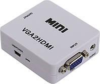Конвертор VGA HDMI VGA2HDMI 5027, зі звуком, фото 1