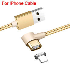 Mantis магнитный кабель Lightning для iPhone угловой. Черный. Лучшее качество!, фото 3