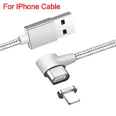 Mantis магнитный кабель Lightning для iPhone угловой. Черный. Лучшее качество!, фото 2
