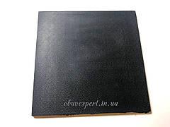Полиуретан обувной  160х160х6, рис. Камешек, цв. черный , рифленый