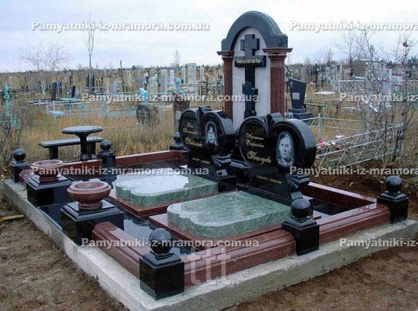 Двойное  комбинированное   надгробие № 93