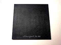 Полиуретан обувной  160х160х6, рис. Кожа, цв. черный , рифленый