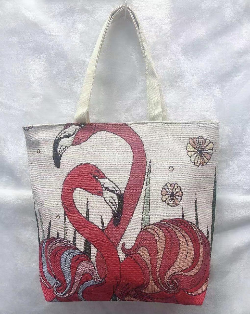 3338e6845bc8 Пляжная городская сумка Влюбленные фламинго, цена 190 грн., купить в ...