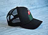 Кепка бейсболка блайзер Supreme Суприм черная (реплика), фото 2