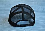 Кепка бейсболка блайзер Supreme Суприм черная (реплика), фото 3