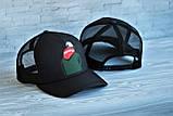 Кепка бейсболка блайзер Supreme Суприм черная (реплика), фото 4