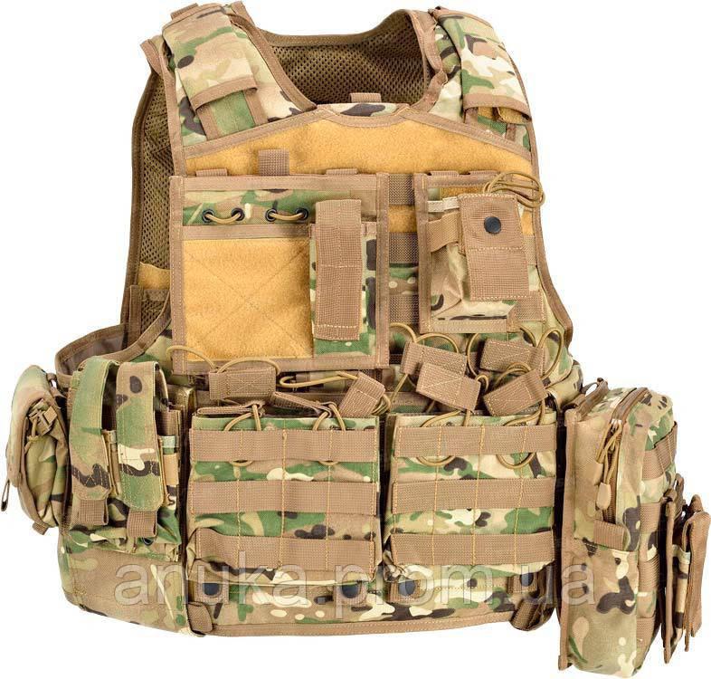Жилет Тактический Defcon 5 Armour Carrier Vest. Цвет - Мультикам (D5-Bav06 Mc) - Экшен Стайл и Анука™ в Днепре