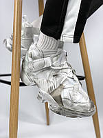 Мужские белые кроссовки рибок Vetements x Reebok Genetically Modified Pump white