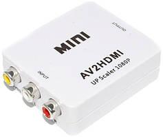 Конвертер AV на HDMI AV2HDMI 5028, со звуком