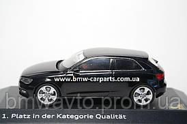 Модель Audi A3, Phantom black, 2013, Scale 1 43