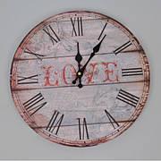 Часы настенные «Love», круглые, 34 см, МДФ