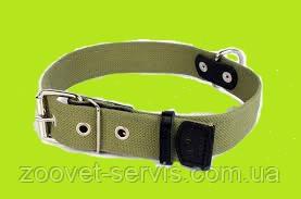 Ошейник для собак БрезентCollarпрошитый светоотражающей нитью, усиленный кожей, фото 2