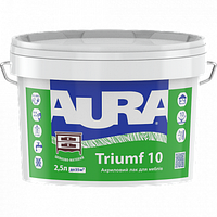Водоразбавимый лак для мебели AURA Triumf 10, 2,5л, шелковисто-матовый
