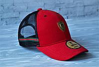 Кепка бейсболка блайзер Gucci Гуччи  красная  (реплика), фото 1
