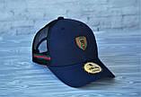 Мужская кепка синяя брендовая с логотипом (реплика), фото 3
