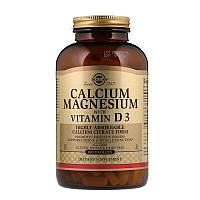 Кальций, магний с витамином D3, Solgar, Calcium Magnesium D3, 300 таблеток