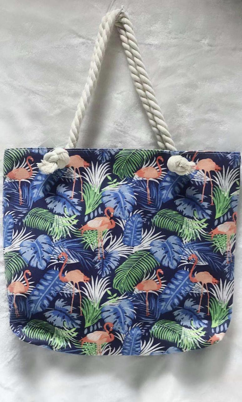 0afb6293cba8 Тканевая сумка пляжная с фламинго, цена 190 грн., купить в Одессе ...