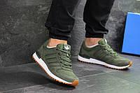 Кроссовки мужские зеленые Adidas ZX 700, весенние мужские кроссовки ( Реплика)