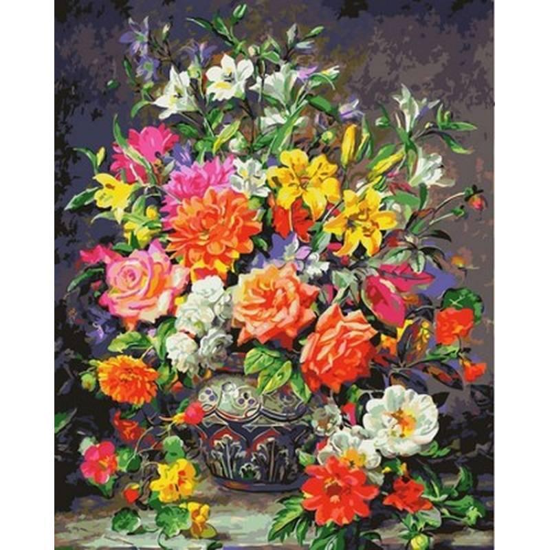 Картина по номерам Роскошный букет роз 40 х 50 см (MR-Q2148)