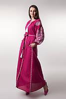 """Довга сукня  з вишитим візерунком """"Ясні зорі""""."""