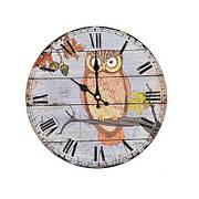 Часы настенные «Сова и осень», круглые, 29 см, МДФ