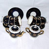Сервиз чайный кобальтовый на 6 персон Довбышский фарфоровый завод СССР