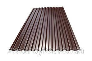Профнастил с полимерным покрытием 0,24x950x2000мм RAL 8017, (коричневый)