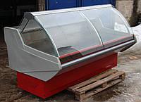 Холодильная витрина гастрономическая «Технохолод Джорджия» 1.95 м. (Украина), широкая выкладка 90 см, Б/у, фото 1