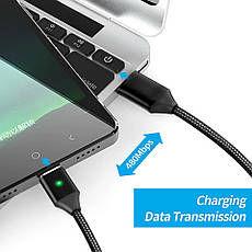 Mantis магнітний кабель Micro-USB. Сріблястий. Краща якість!, фото 3