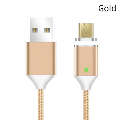 Mantis магнитный кабель Micro-USB. Золотистый. Лучшее качество!, фото 2