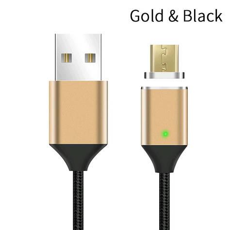 Mantis магнітний кабель Micro-USB. Gold-Black. Краща якість!, фото 2