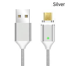 Mantis магнітний кабель Micro-USB. Сріблястий. Краща якість!, фото 2