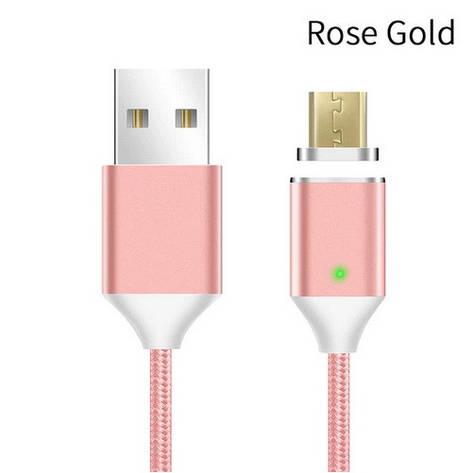 Mantis магнитный кабель Micro-USB. Розовый. Лучшее качество!, фото 2