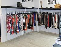 Торговое оборудование для магазинов одежды из хромированной трубы