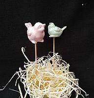 "Керамичная ""Птичка на палочке"", выс. 25 см., 55/43 (цена за 1 шт. + 12 гр.)"