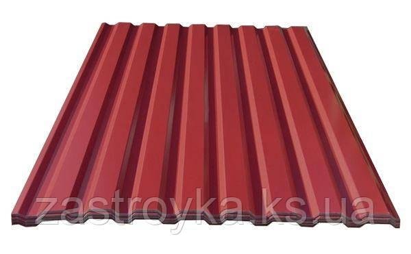 Профнастил с полимерным покрытием 0,2x950x2000мм RAL 3005, (вишневый)