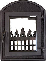 Печные дверцы DELTA Dali 350х470 Дверца чугунная для печи и камина