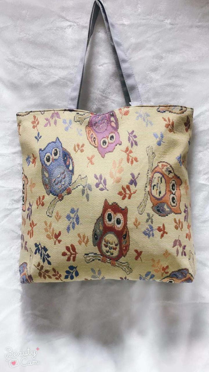 Пляжная сумка тканевая Совы