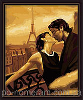 Картина по номерам Набор БЕЗ КРАСОК! Menglei Французский поцелуй MG045 40 х 50 см