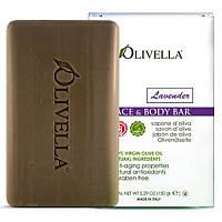 Olivella, Мыло для лица и тела, лаванда, 150 г (5,29 унций)
