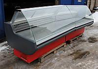 Холодильная витрина гастрономическая «Росс Verona» линия 3.5 м. (Украина), широкая выкладка 70 см. Б/у , фото 1