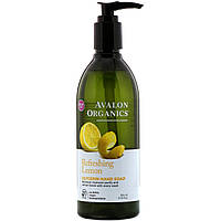 Жидкое мыло для рук с глицерином Avalon Organics, лимон, 355 мл