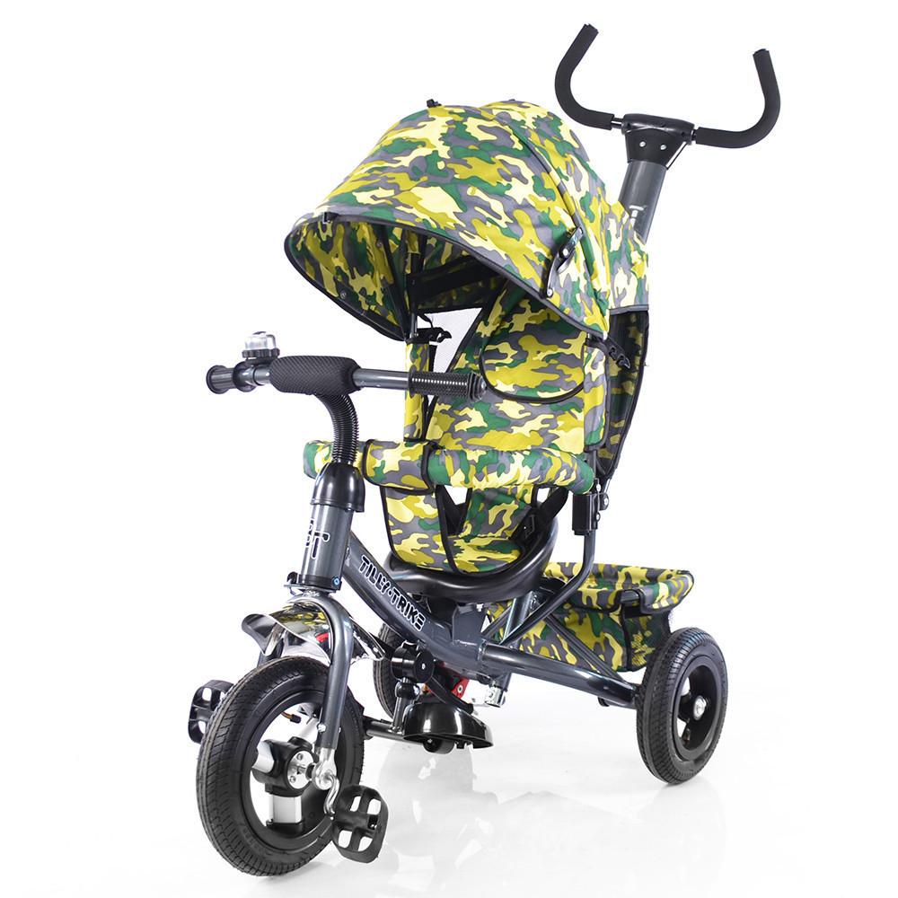 Велосипед трехколесный TILLY Trike T-351-8 Графитовый с надувными колесами***