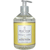 Средство для мытья рук с аргановым маслом Deep Steep, Лимонник и Жасмин, 520 мл