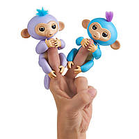 Интерактивные обезьянки на качели, WowWee Fingerlings Playset – See-Saw with 2 Baby Monkey Toys