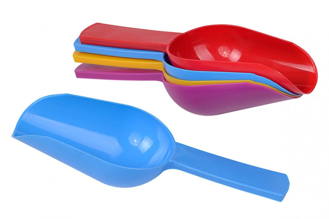 Совок харчовий пластиковий для сипучих продуктів, малий, Він