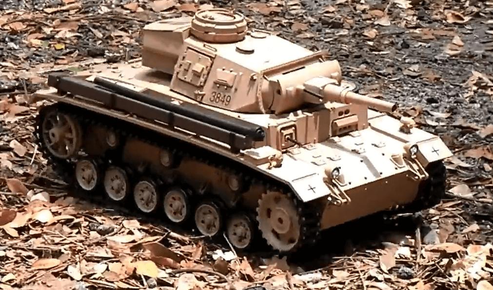 Танк на радиоуправлении Tauch Panzer III Ausf.H HENG LONG 3849-1. Суперподарок!