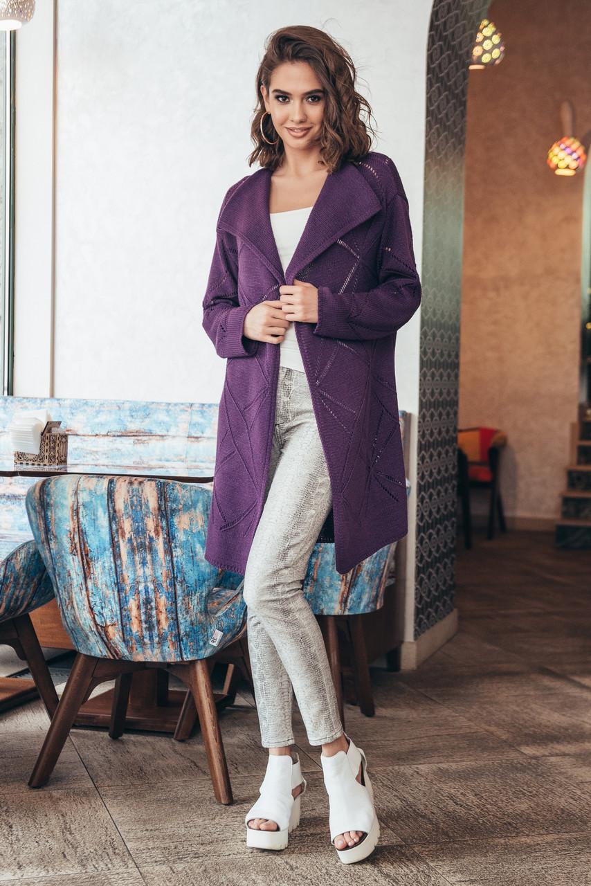 вязаный кардиган мохито фиолет продажа цена в харькове свитеры