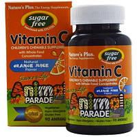 Витамин С для детей жевательный, Nature's Plus, апельсин, Animal Planet, Vitamin C